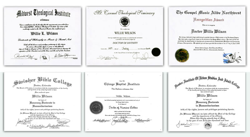 ... of Divinity degree from Mt. Carmel Theological Seminary, a Doctor of Humane Letters from Chicago Baptist Institute, Honorary Doctorate in ...